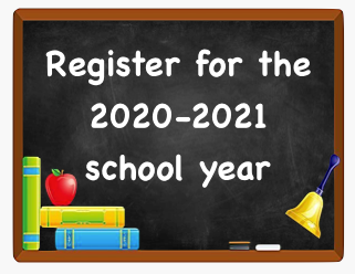 Register for 2020-2021 School Year